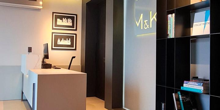 Foto interna do escritório